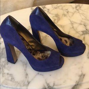 Sam Edelman purple suede heels